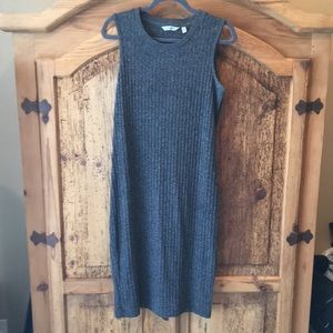 Fitted knit tank dress
